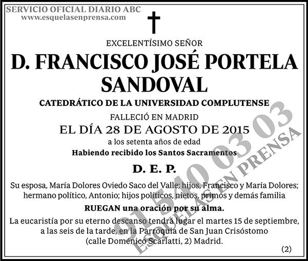 Francisco José Portela Sandoval